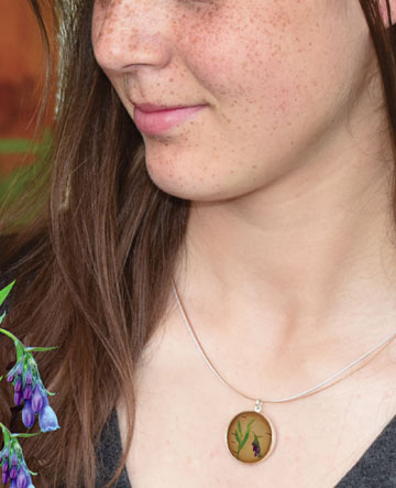Bluebell Birch & Silver Necklace
