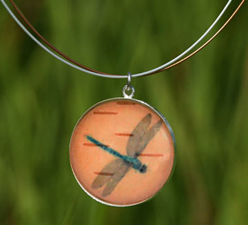 Dragonfly Silver Necklace