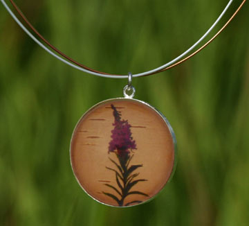 Fireweed Silver Necklace